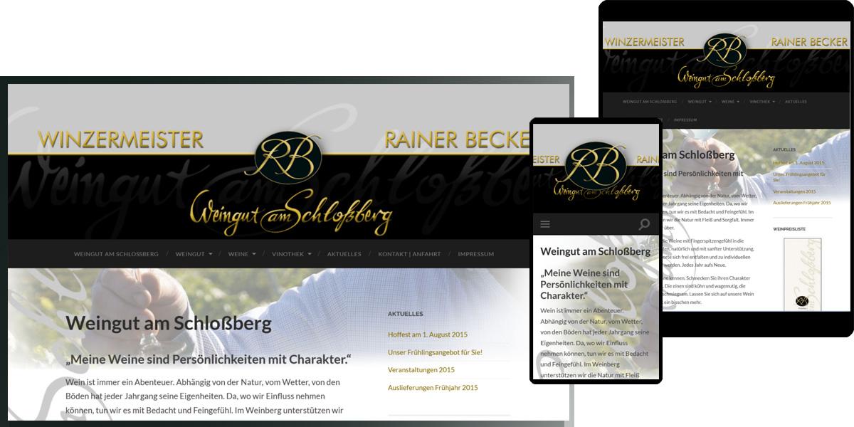 Weingut am Schlossberg - Winzermeister Rainer Becker, Gau-Heppenheim
