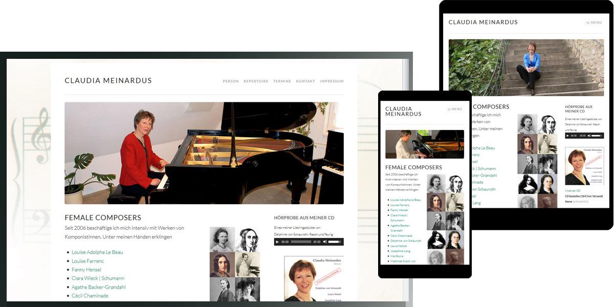 Claudia Meinardus spielt Komponistinnen female-composers.de