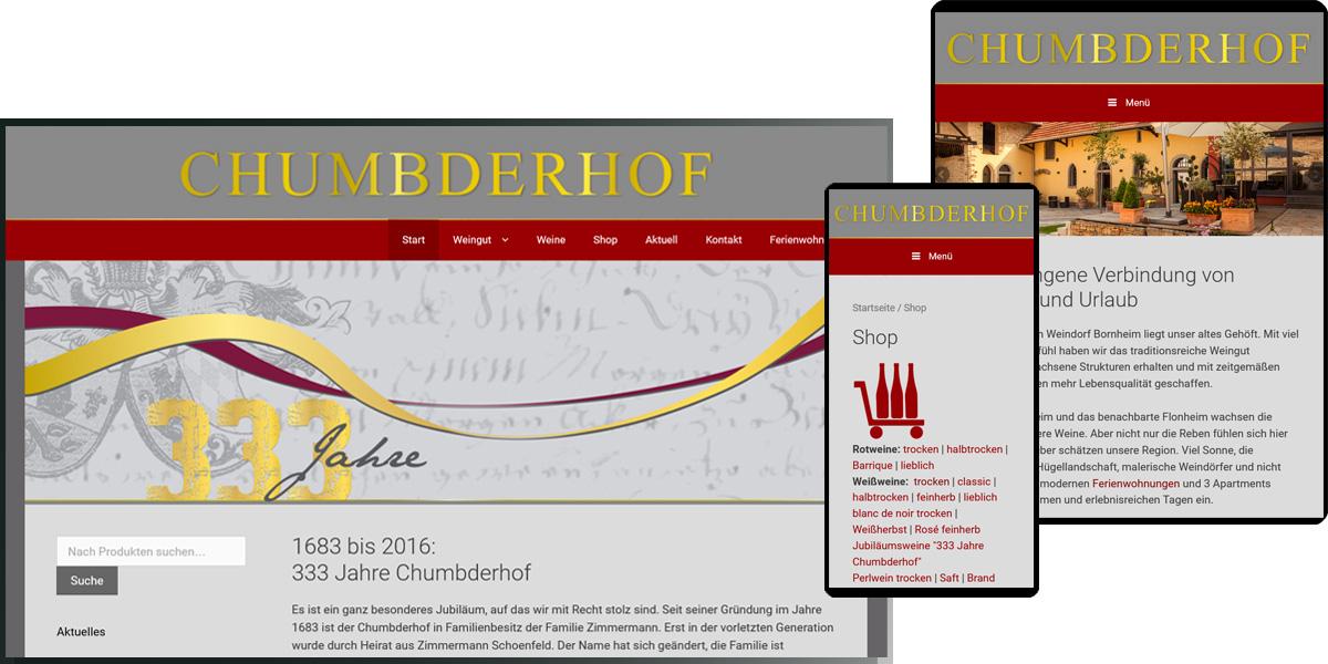 Chumbderhof - Wein- und Sektgut, Bornheim mit Online-Shop