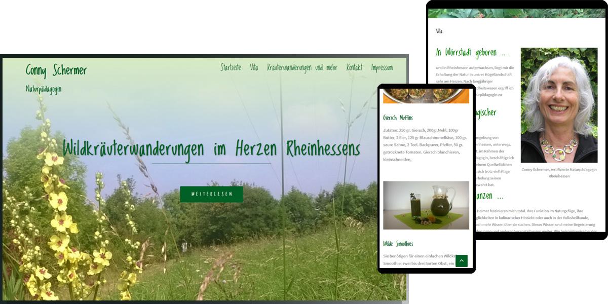 Conny Schermer - Naturpädagogin - comscher.de