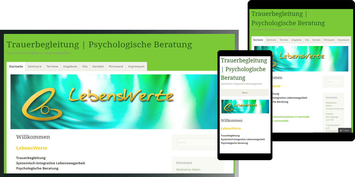 LebensWerte | Kerstin Werz-Schweitzer | Trauerbegleitung & Psychologische Beratung