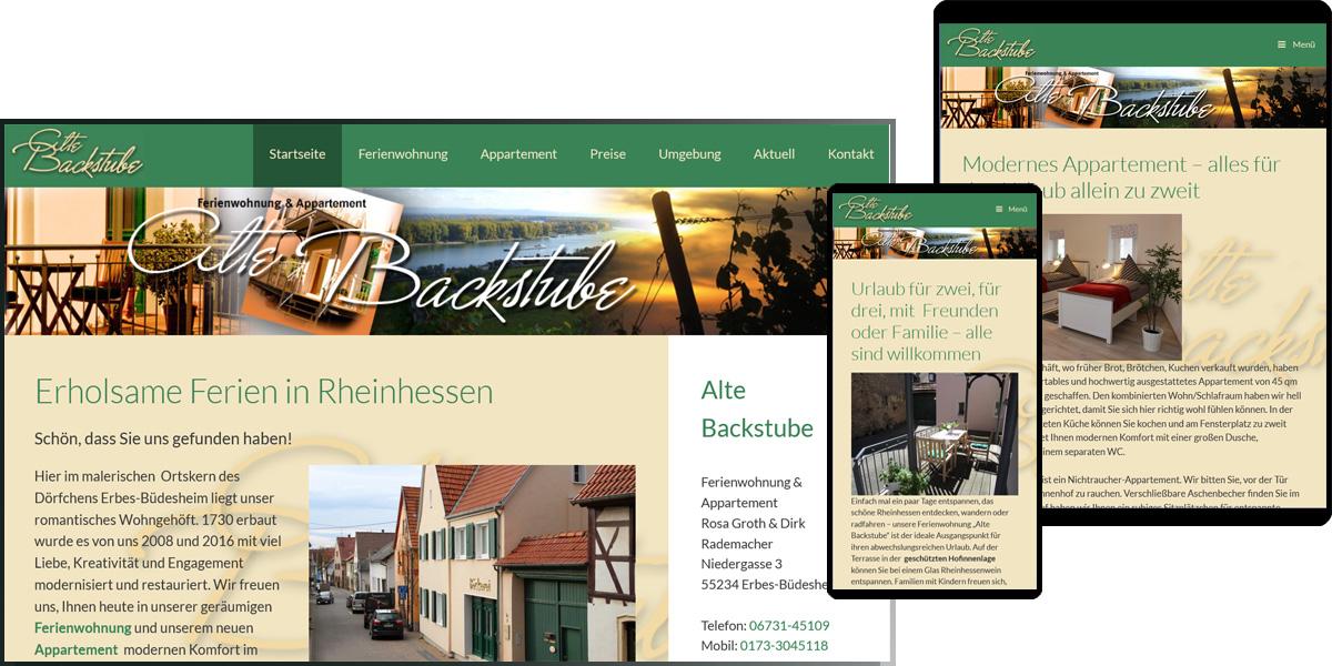 Ferienwohnung Appartement Alte Backstube | Erbes-Büdesheim