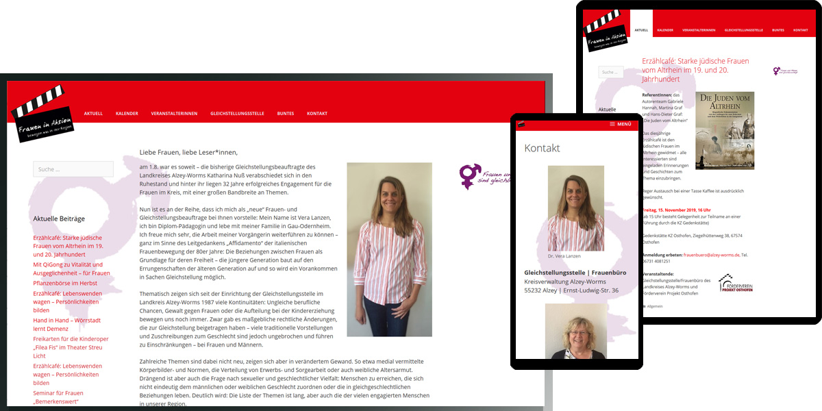 Frauen in Aktion | Veranstaltungskalender der Gleichstellungsbeauftragten des Landkreises Alzey-Worms